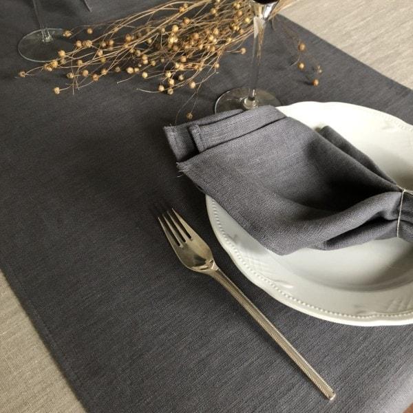 ecoinvent bordløber grå med opdækning tæt på