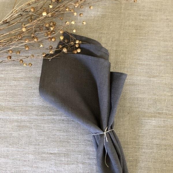 ecoinvent hørserviet grå foldet