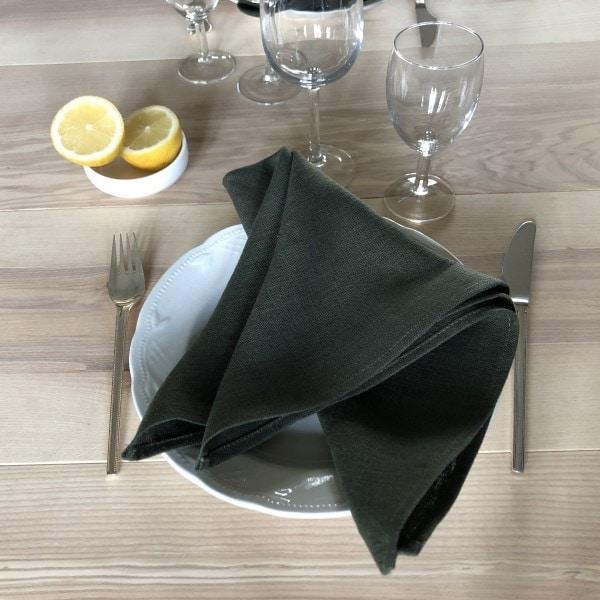 ecoinvent hørserviet leaf på tallerken