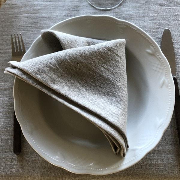 ecoinvent hørserviet natur på tallerken