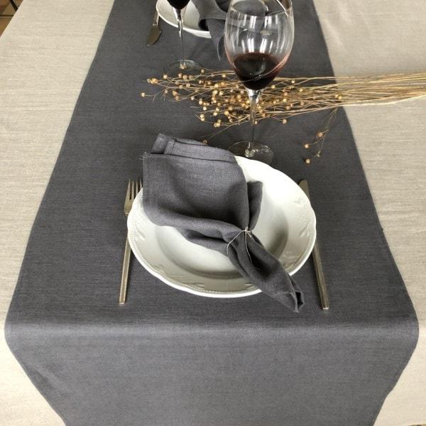 ecoinvent hørserviet grå borddækning